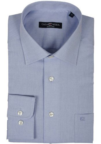 CASAMODA Herren Loose Fit Business Hemd 006060 63 hellblau