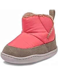 Little Blue Lamb–Zapatos para bebé unidad lernschuhe Booties Botas Nylon ante combinado 38638melón Rojo