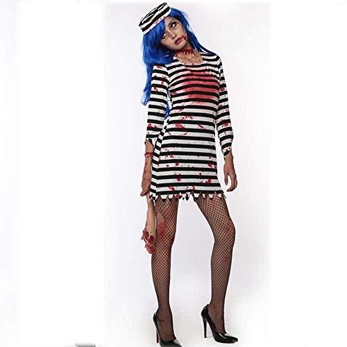 Fashion-Cos1 Erwachsene Halloween Festival Kostüme Horror Bloody Prisoner Cosplay Kostüme Für Frauen Teufel Kleidung Karneval Party Kostüm