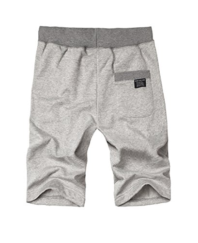 NiSeng Herren große Größe Slim Fit Elastische Taille Badeshorts Sport-Shorts Strand Shorts Sommer BoardShorts Mit Kordelzug Hellgrau