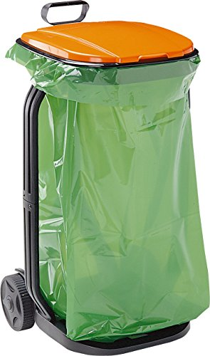 G.F. 80005770 - Cubo de basura de jardín, color negro
