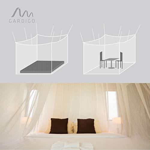 Gardigo Moskitonetz, Mückennetz | Insektenschutz, 200 x 220 x 200 cm, Quadratisch I Schutz vor Mücken, Fliegen I Geeignet für Einzel- und Doppelbett
