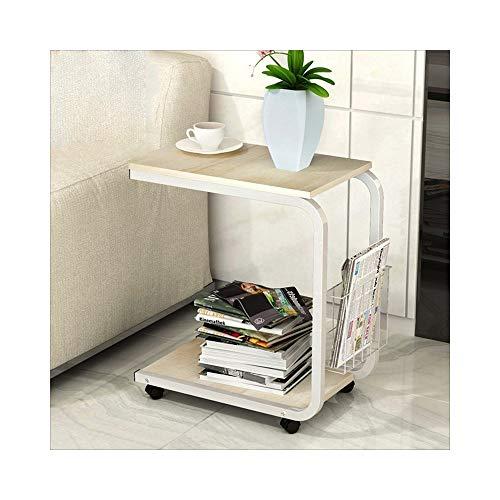Aluminium Frame Sofa (YMXLJF Mobiler Couchtisch einfacher moderner Mini-Sofa-Nachttisch (Farbe : White frame willow color))