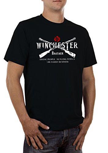 Winchester 2 Guns Herren T-Shirt (Bang Gun Kostüm)