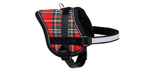 Karlie Teeny Weeny Geschirr Scotland, 15 mm x 31-40 cm, rot Kariert (Geschirr Karierte)