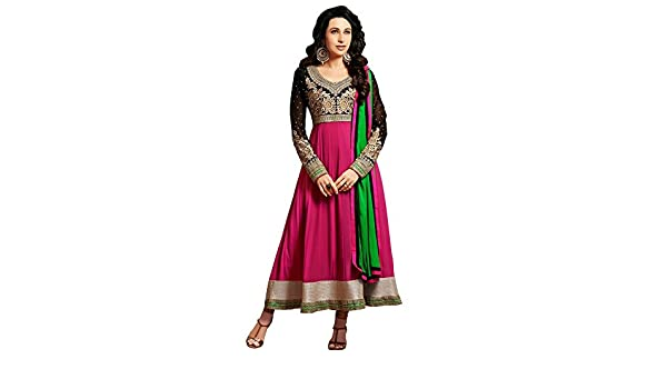 3ca8b19f82 Vipul Branded Georgette Pink Salwar Suit Kameez Dress Material ( Holi Offers  & Discount Best Gift For Mom, Wife, Sister & Happy New Year Sale ):  Amazon.in: ...