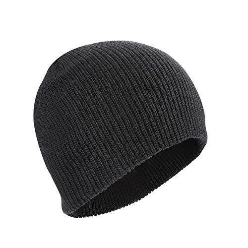 Kungber Wintermütze Herren, Warmer Weicher Unisex Beanie Mütze Strickmütze Acrylic Watch Hat Mütze für Damen Herren (Schwarz 3)