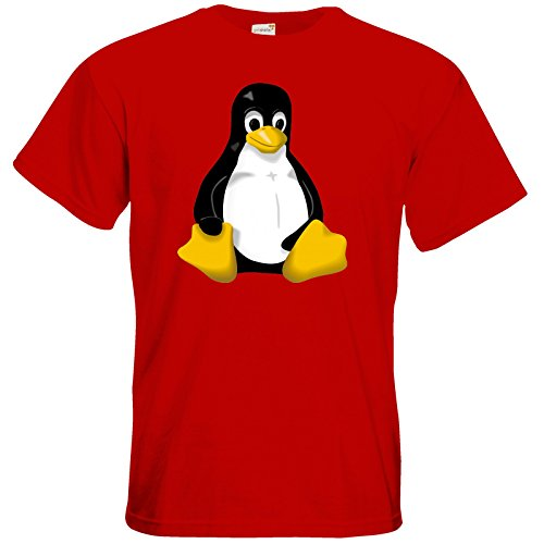 getshirts - Best of - T-Shirt - Geek - Linux Tux - red 3XL