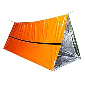 Serria® Survivalzelt/Ultraleicht Notzelt -1 × Schlauchzelt + 1 × 8 m Seil Tube Tent Emergency Survival Shelter…