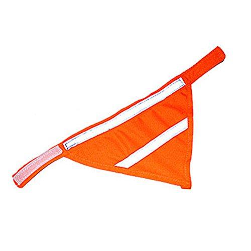 WINNERUS 1 pc Haustier Schal Kragen Bogen Bib Tie Puppy reflektierende fluoreszierende Lätzchen Hund Schals Neckband Haustier dreieckige Verband Zubehör (M, orange)