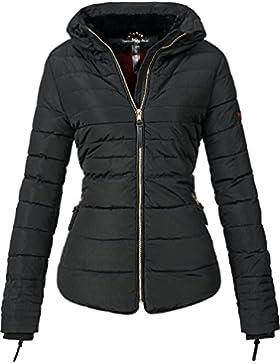 Marikoo Damen Jacke Winterjacke Steppjacke Amber (vegan hergestellt) 8 Farben + Camouflage XS-XXL