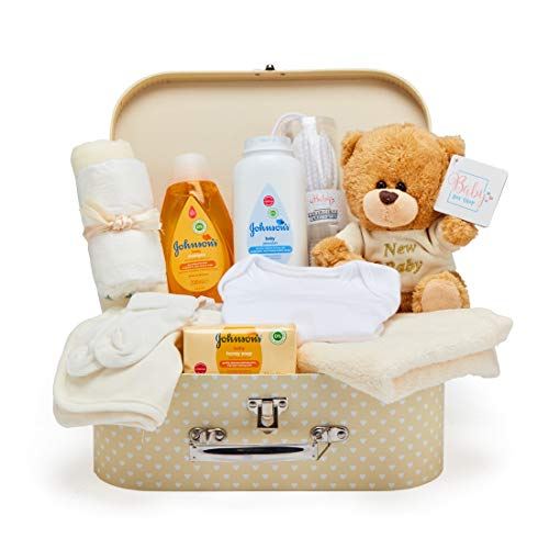 Baby Box Shop Kit neonato per regalo nascita unisex e Baby Shower Set bagno accessori completo scatola dei ricordi Set neonato accessori prima