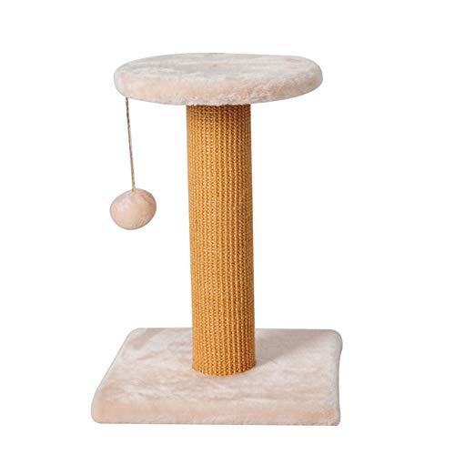 Gioca Torre Tronchi Cattura Gatto Struttura Rampicante Gatto Piccolo Albero Graffatrice per Gatti Graffi (30 * 30 * 44cm) Beige