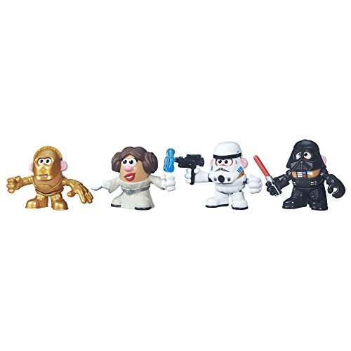 Mr Potato Playskool B5145 Head Toy, Disney Star Wars Disney Toy, Vader, Leia, C-3PO Stormtrooper