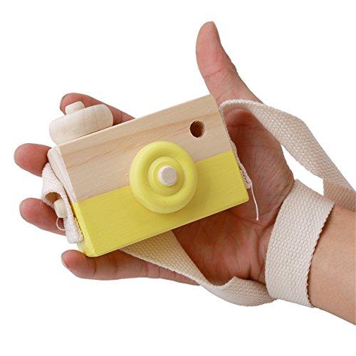 Lalang Gelb Niedliche Baby Kinder Holz Kamera Spielzeug Kindermode Bekleidung Accessory Zubehör,Als beste Geburtstagsgeschenk für Baby (Baby-kamera-spielzeug)