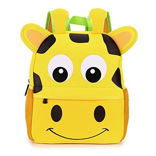 IGNPION Kindergarten Kinder Rucksäcke Kleinkind Kinder Schultasche Zoo Lunchpaket 3D Niedlichen Tier Cartoon Vorschule Rucksack (3-7 Jahre Alt) (Giraffe Groß) - 5 Tier-mesh
