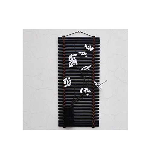 Qiaoxianpo01 decorazioni da parete, stile minimalista cinese, soggiorno camera da letto sala da pranzo tv arazzi, (fiori bianchi, fiori rosa, cartamo) (edition : a)