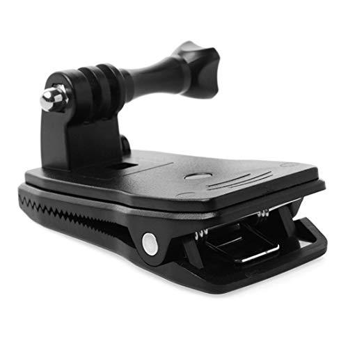 Swiftswan Morsetto per Fotocamera Morsetto Girevole a 360 Gradi Morsetto per Zaino Supporto per Rec-Mount Compatibile con GoPro Hero 7 6 5 4 / Session 3+ 3 SJCAM SJ4000 Garmin Virb XE ECC