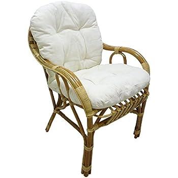 fauteuil chaise de soleil en osier bambou et rotin naturel avec coussin pour maison salon