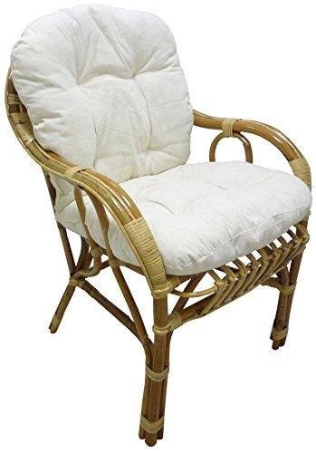 Sf savino filippo poltrona sedia sole in vimini bambù rattan naturale con cuscino per casa salotto