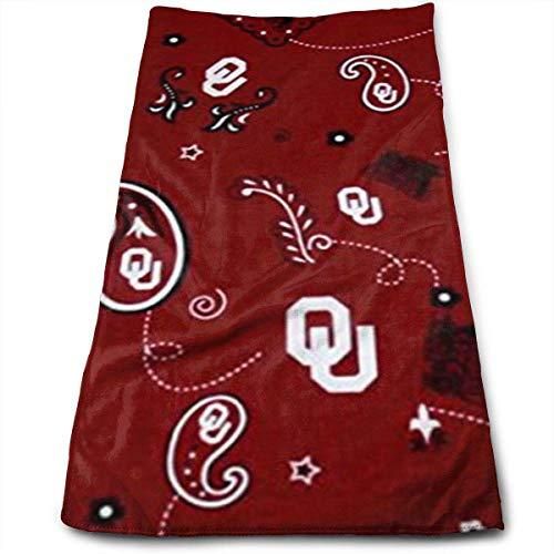 Myhou University of Oklahoma Bandana Red Mehrzweck-Mikrofaser-Handtuch Ultrakompakt Super saugfähig und schnell trocknend Sport Handtuch Reise Handtuch Haar Strand Handtuch