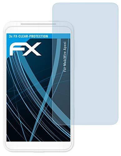 atFolix Schutzfolie kompatibel mit MobiWire Aponi Folie, ultraklare FX Bildschirmschutzfolie (3X)
