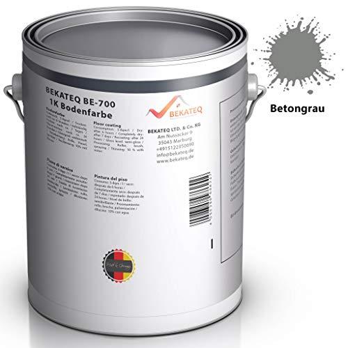 BEKATEQ BE-700 Bodenbeschichtung, 5l Betongrau, Betonfarbe seidenmatt, für innen und außen (Frost Decke)