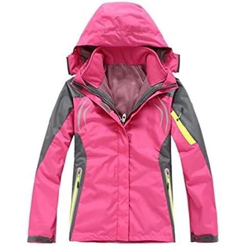 YYH Tríada femenina ropa al aire libre de uno o dos conjuntos de esquí alpinismo usar fluorescentes , l