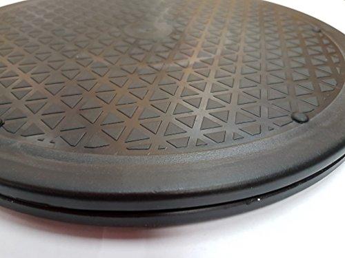 30,5cm Zoll/30cm Mehrzweck 360Grad drehbar Plattform, die-Drehteller für mit kleinen TV, Computer-Monitore, Laptop, Bonsai Pflanzen, Kuchen dekorieren, HiFi Lautsprecher & Lazy Susan
