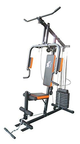 F4H casa Multi Gym ES-403 tonificación estación fuerza máquina de musculación multicolor Rojo y negro