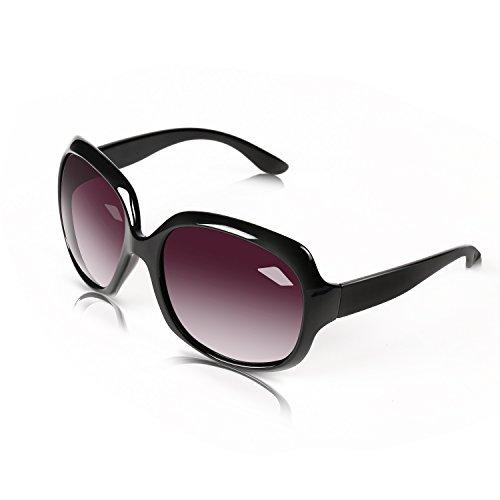 B BIDEN BLDEN Mujer Grande Gafas De Sol moda polarizadas gafas UV400 Protección Para Conducción GL3113-BLACK