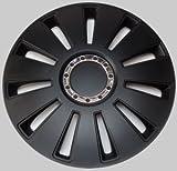 Radkappen Radzierblenden Radabdeckungen Silverstone Pro schwarz black 14