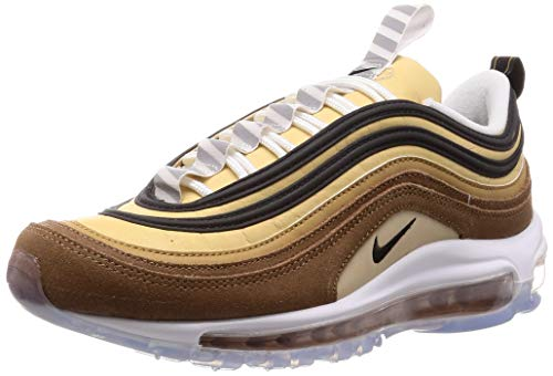 2b9fb1440ab5c Nike Air Max 97, Chaussures de Running Homme, Marron (Ale  Brown/Black/Elemental Gold 201), 43 EU