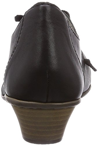 Rieker 41952, Chaussures à talons - Avant du pieds couvert femme Noir - Schwarz (schwarz/schwarz / 01)