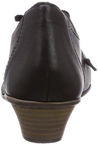 Rieker - 41952, Scarpe col tacco Donna Nero (Schwarz (schwarz/schwarz / 01))