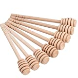 Fyuan Honig Sticks 5,7 Zoll Holzschläger für Honig-Glas-Topf Dispense Drizzle Honig,Set von 8