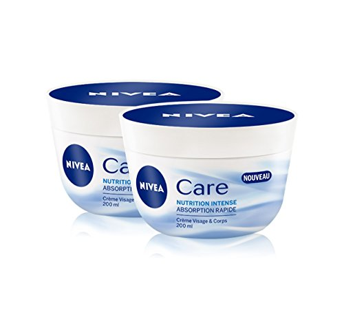 Nivea Care Crème Visage et Corps Nutrition Intense 200 ml - Lot de 4
