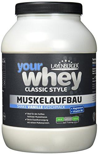 Layenberger YourWhey Classic Style Muskelaufbau Shake Vanille, 1er Pack (1 x 750 g)