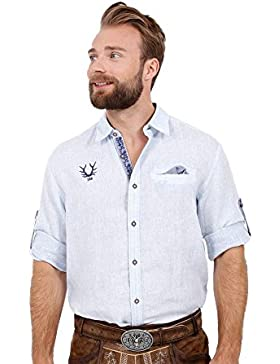 Michaelax-Fashion-Trade Krüger - Herren Trachtenhemd in Blau, Finn (95108-81)