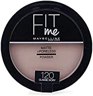 Maybelline New York Fit Me Matte + Poreless Face Powder 120 Classic Ivory, 14 g