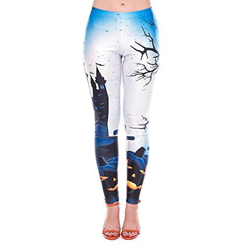 se Halloween Leggings Frauen Funnky Blitz Kürbisse Digitaldruck Fitness Hosen Plus Size Hosen ()