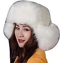 f5c1633ccd052 DianShaoA Sombrero De Invierno De Estilo Ruso con Gorro Suave Y Grueso para  Mujeres Hombres
