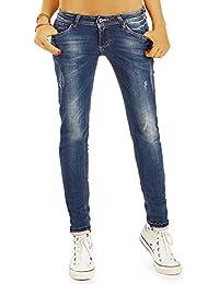 Bestyledberlin Damen Slim Fit Jeans, Schmale Used Style Röhrenjeans, Hüftjeans j80i