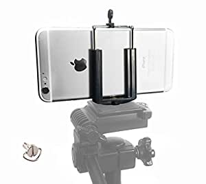 Cell Phone Tripod Adapter - iPhone Tripod Mount - 6 6S Plus 5 5S 5C 4 4s Clip Holder Connector Head Smartphone Attachment Samsung Galaxy S6 S5 S4 S3 S2 - Cell Phone Tripod Mount - DaVoice