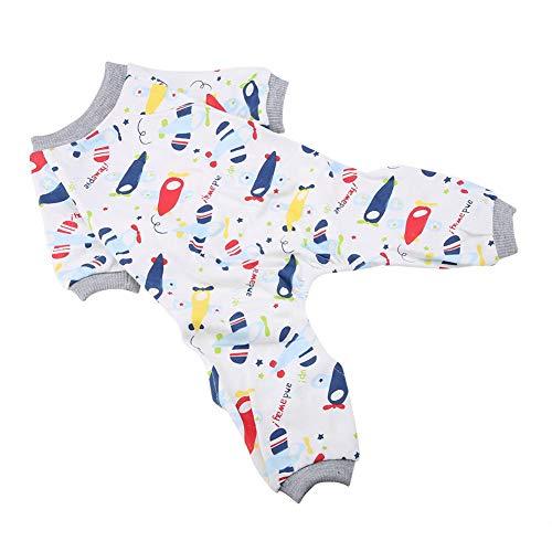 Semme Hundepyjamas, Hundewelpen-Cartoon-Pyjamas Katze Overall kleines Haustier Baumwollkleidung Haus Kostüm<br/>(XS)