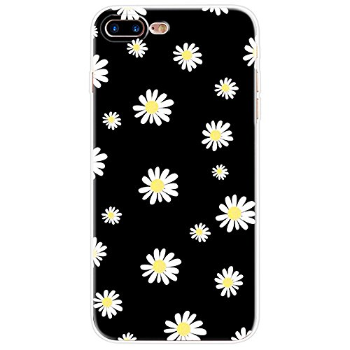 "iPhone 7Plus Hülle, Retro Flower Series CLTPY iPhone 7Plus Dünne Matt Malereifarbig Weich Silikon Handytasche, Kreativ Leichtbau Protektiv Schale Fall für 5.5"" Apple iPhone 7Plus (Nicht iPhone 7) + 1  Kleine Gänseblümchen"