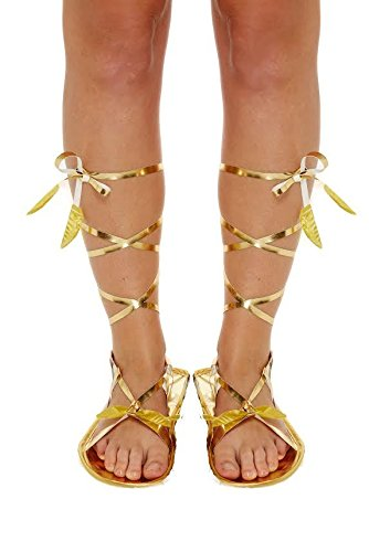 römischen Sandalen Schuhe Hausschuhe Mittelalter Ägyptische Griechisch Gladiator Fancy Dress Party (Griechisch Kostüme Ägyptische Römischen)