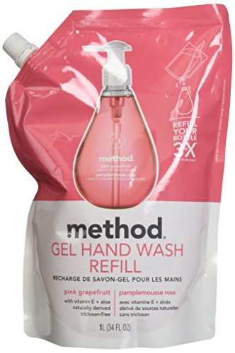 Method Gel Hand Wash Refills Grapefruit Fragrance 1 Litre Pack of 2