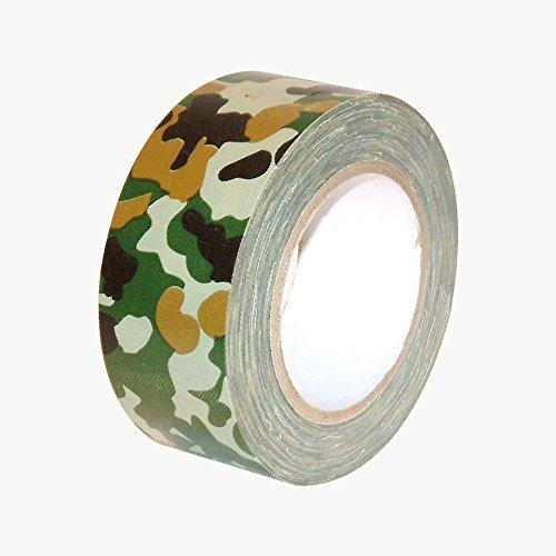 jvcc cam-01Premium Grade camuflaje cinta americana [grueso de 11,8Mils] (75pies de largo), color Woodland Forest Green 2 in. x 25 yds. (48mm x 23m)