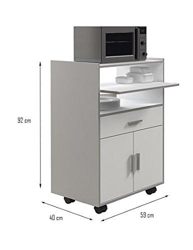 Habitdesign 009910o mueble auxiliar mesa cocina con un for Mueble auxiliar cocina